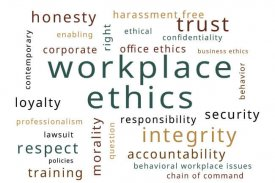 workplace ethics word cloud - Office Ethics Inc.